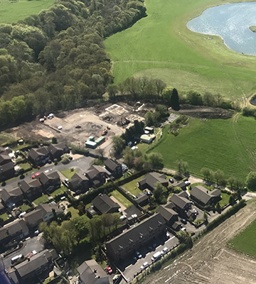 Aerial view of Dodds Farm site